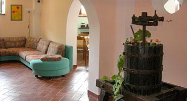 sala comune agriturismo Santa Croce umbria Gubbio